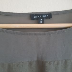 Dynamite Tops - Dynamite | semi sheer back cutout blouse